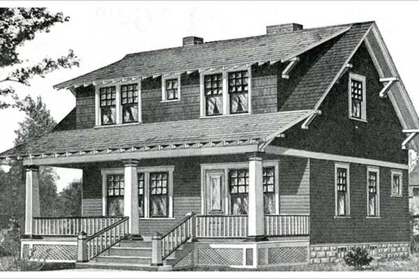 Classic Rock Face Rusticated Concrete Block Sears Kit Home Bungalow Craftsman Foundation Wareham