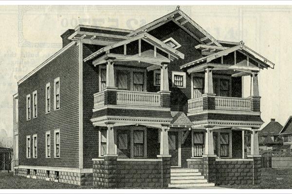 Classic Rock Face Rusticated Concrete Block Sears Kit Home Porch Foundation