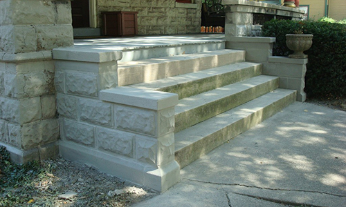 Classic-Rock-Face-Rusticated-Concrete-Sears-Block-Porch-Foundation-Stairs-Repair-Stout-After