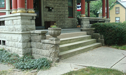 Classic-Rock-Face-Rusticated-Concrete-Sears-Block-Porch-Foundation-Stairs-Repair-Stout-Before