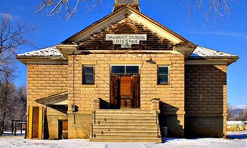 Classic Rock Face Rusticated Concrete Sears Block Schoolhouse Valmont