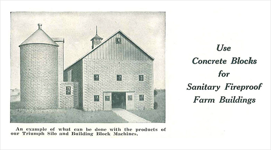 Classic-Rock-Face-Rusticated-Concrete-Sears-Block-Farm-Barn-Silo-Ad