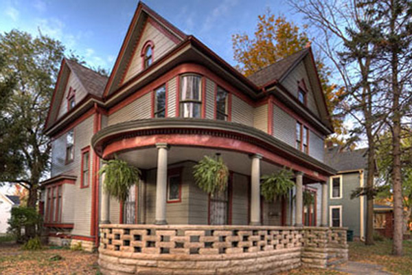 A Classic Rock Face Rusticated Concrete Block Sears Porch Lattice Victorian Queen Anne House Cover