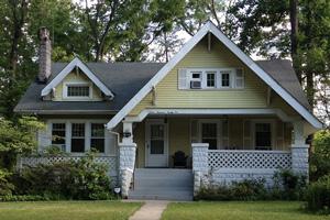 A Classic Rock Face Rusticated Concrete Sears Block Porch Craftsman Bungalow Kit Home