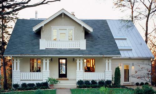 Classic Rock Face Rusticated Concrete Block Porch Kit Home