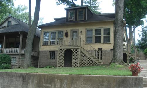 Classic Rock Face Rusticated Concrete Sears Block Foundation House Bungalow Indiana