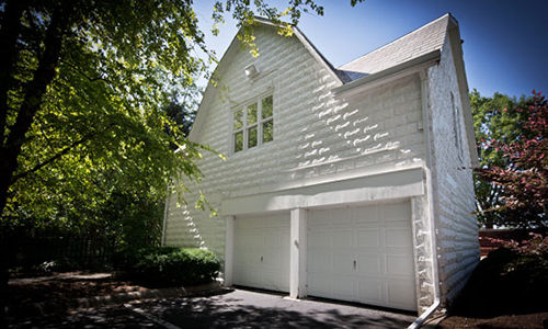 Classic Rock Face Rusticated Concrete Sears Block Garage Carriage House