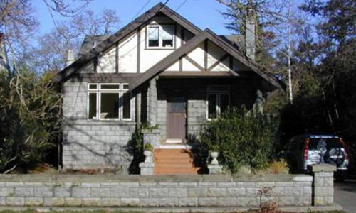 Classic Rock Face Rusticated Concrete Sears Block House Bungalow First Story Fence