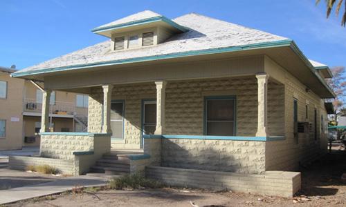 Classic Rock Face Rusticated Concrete Sears Block House Bungalow