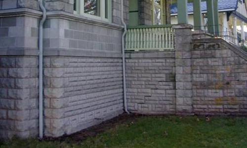 Classic Rock Face Rusticated Concrete Sears Block Porch Craftsman Bungalow