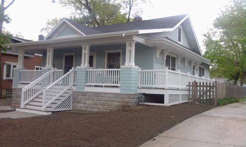 Classic Rock Face Rusticated Concrete Sears Block Porch Craftsman Bungalow Prairie Homes