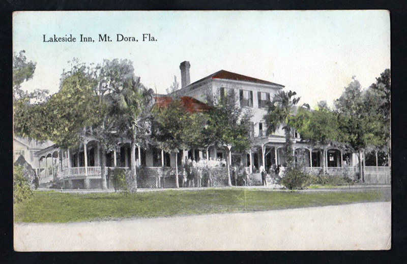 Classic Rock Face Block Lakeside Inn Postcard